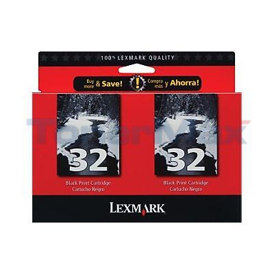 LEXMARK X5250 NO. 32 PRINT CTG BLACK TWIN PACK